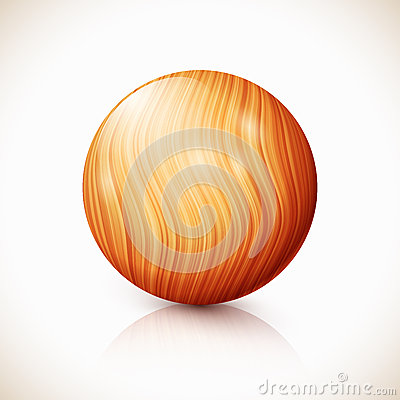 Yellow vector isolated wooden ball