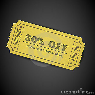 Yellow Vector vintage sale coupon
