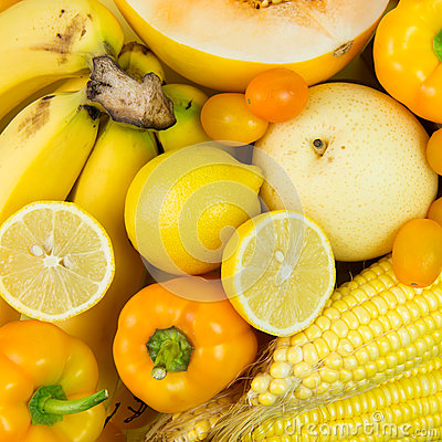 Free Yellow Vegetables And Fruits Royalty Free Stock Photos - 54572448