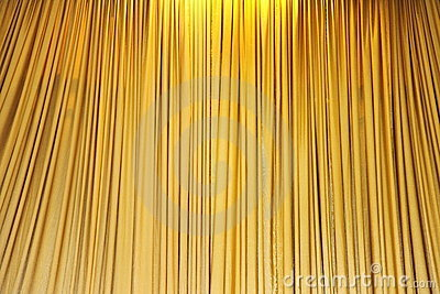 Yellow velvet theater curtains