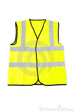 Yellow vest isolated on the white