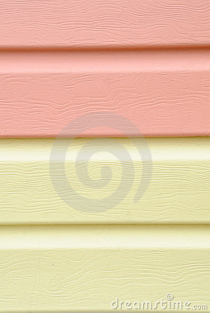 Yellow vinyl siding material for