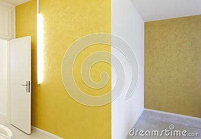 Yellow walls and neon