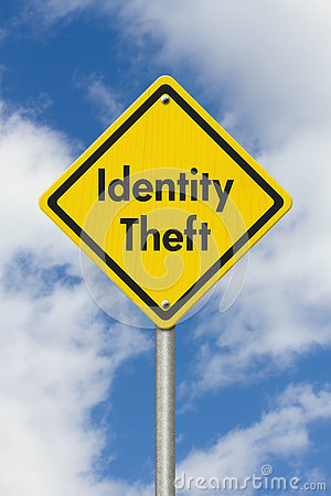 Free Yellow Warning Identity Theft Highway Road Sign Stock Image - 74557851