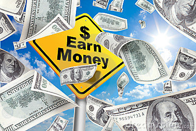 Yellow Warning Sign Earn money, make money