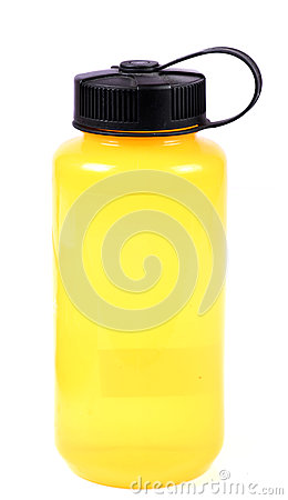 Free Yellow Water Bottle Stock Photo - 53833860