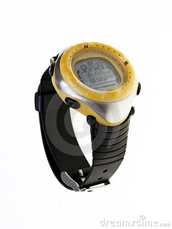 Yellow waterproof watch