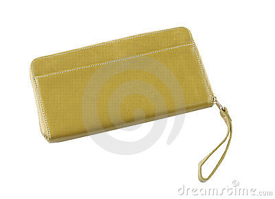 Yellow woman purse