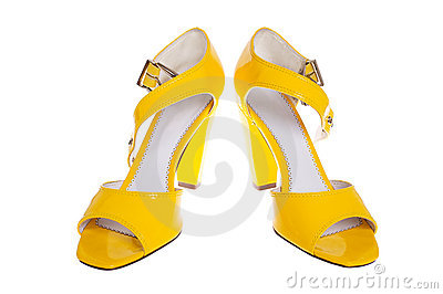 Yellow woman shoes