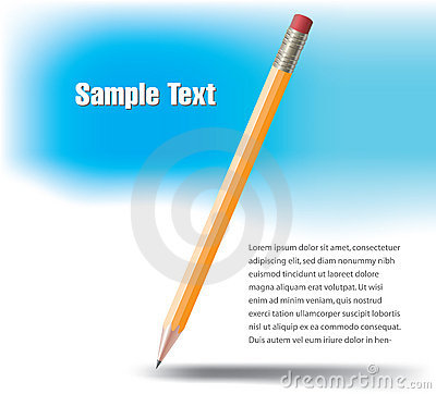 Yellow wooden pencil