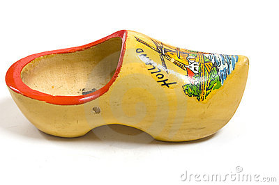Yellow wooden shoe