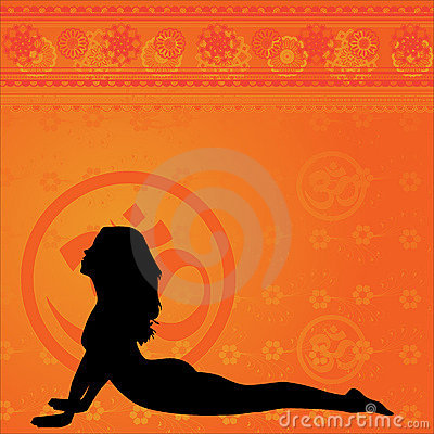 Yellow yoga background
