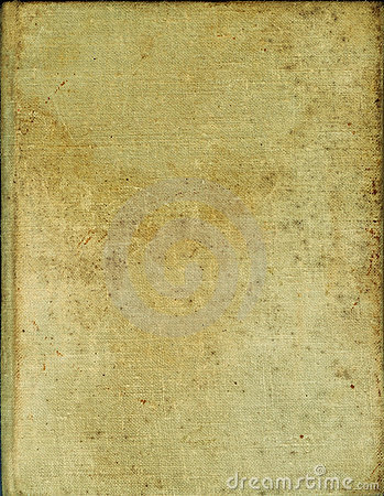 Yellowed old book cover