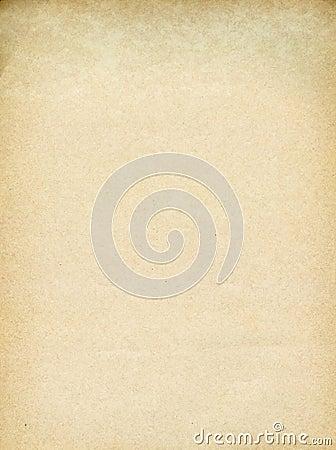 Yellowed paper sheet