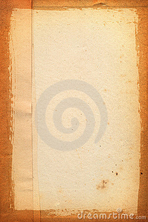 Yellowed sheet of paper