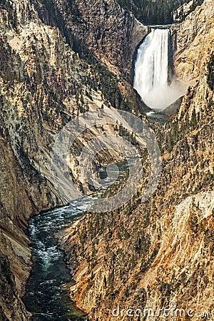 Yellowstone Lower Falls Waterfall