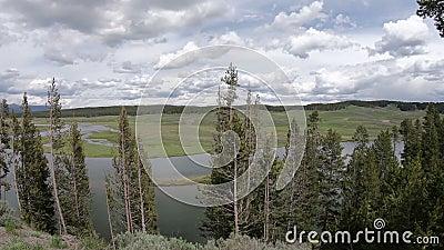 Yellowstone, Wyoming-landschap stock video