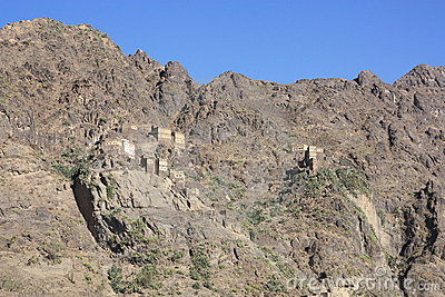 Yemen , rock village