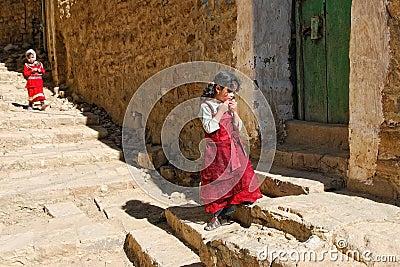 Yemeni children Editorial Stock Image