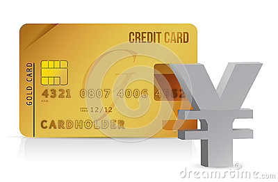 Yen credit card concept illustration