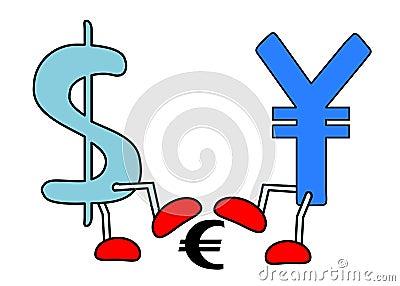 Yen dollar crushing euro