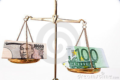 Yen and Euro money