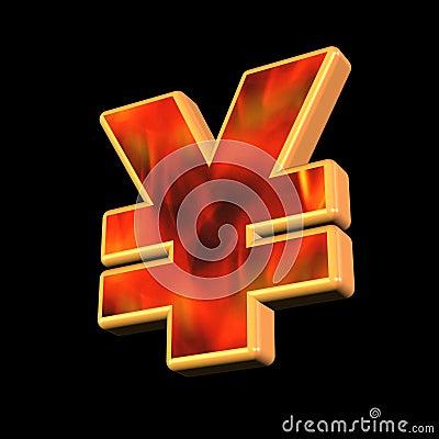 Yen money symbol