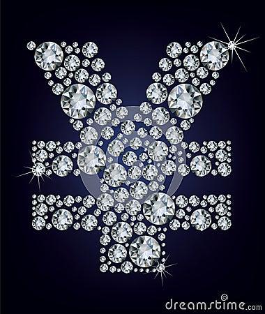 Yen symbol in diamonds