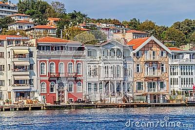 Yenikoy Istanbul coastal Editorial Image