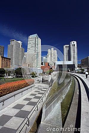 Yerba Buena gardens,San Francisco Editorial Stock Image