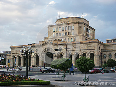 Yerevan late evening Editorial Stock Photo