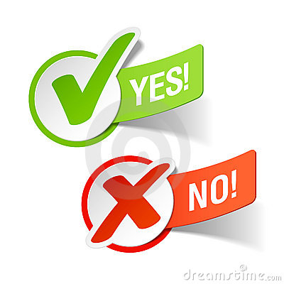 Free Yes And No Check Marks Royalty Free Stock Photo - 19547735