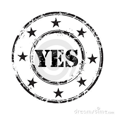 Yes grunge rubber stamp background