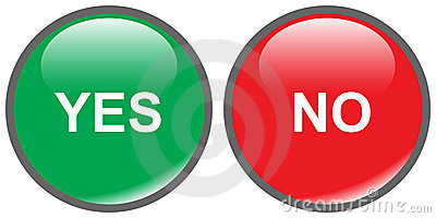 Yes No Buttons Stock Image Image 4782871