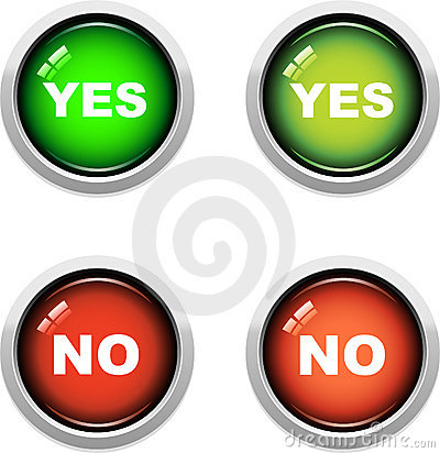 Yes / No Buttons