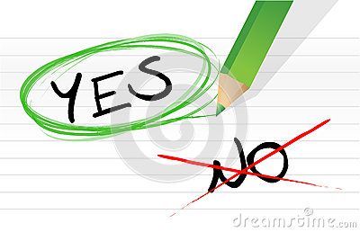 Yes and no choice