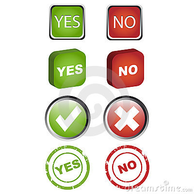 Yes and no icons set