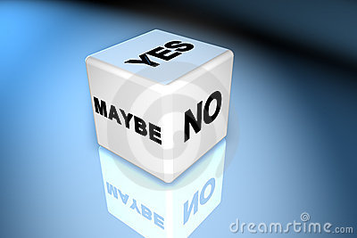 Yes, No, Maybe Dice Stock Images - Image: 1180314
