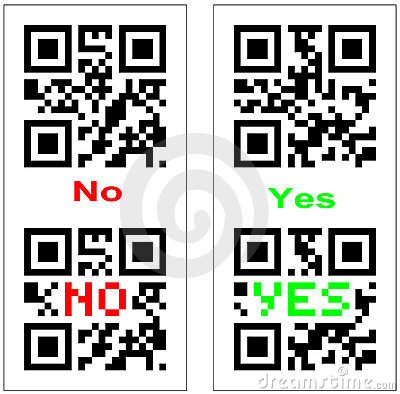 Yes and No QR barcode
