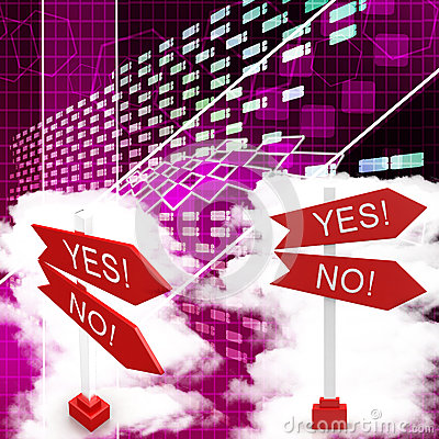 Yes And No Sign Board Illustration
