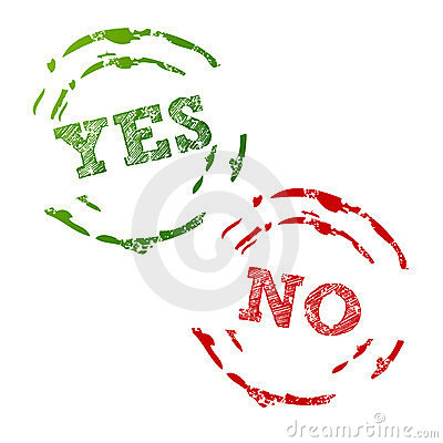 Yes and No Stamps