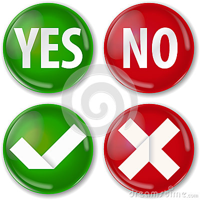 Yes Or No Royalty Free Stock Image - Image: 30451256