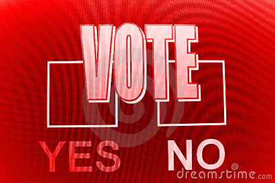 Yes and no voting boxes