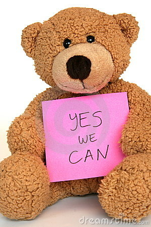 Free Yes We Can Bear Royalty Free Stock Photography - 8584877