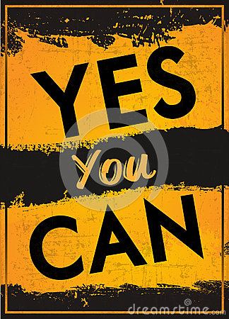 Yes You Can Stock Illustration - Image: 53596106