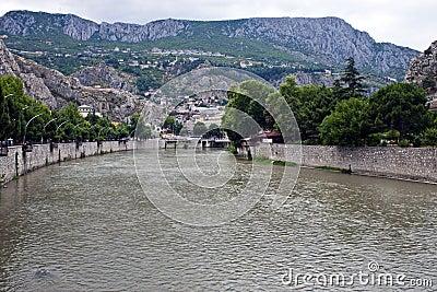 Yesilirmak river in Amasya
