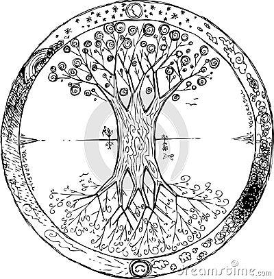 Superb mandala les plus beau du monde 14 yggdrasil est l arbre celtique qui repr sente la vie - Mandala les plus beau du monde ...