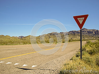 Yield on Empty Desert Road