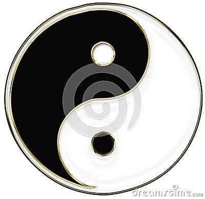 Yin och Yang symbol
