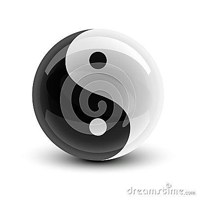 Yin und Yang-Kugel